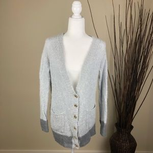 JUICY COUTURE   Gray Button V-Neck Cardigan Small